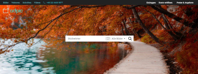 Startseite Bildagentur adpic