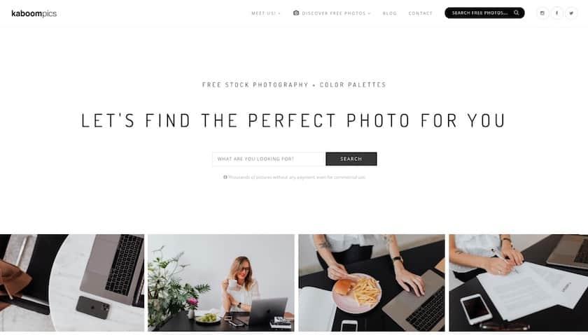 Lizenzfreie Bilder kostenlos - kaboompics website
