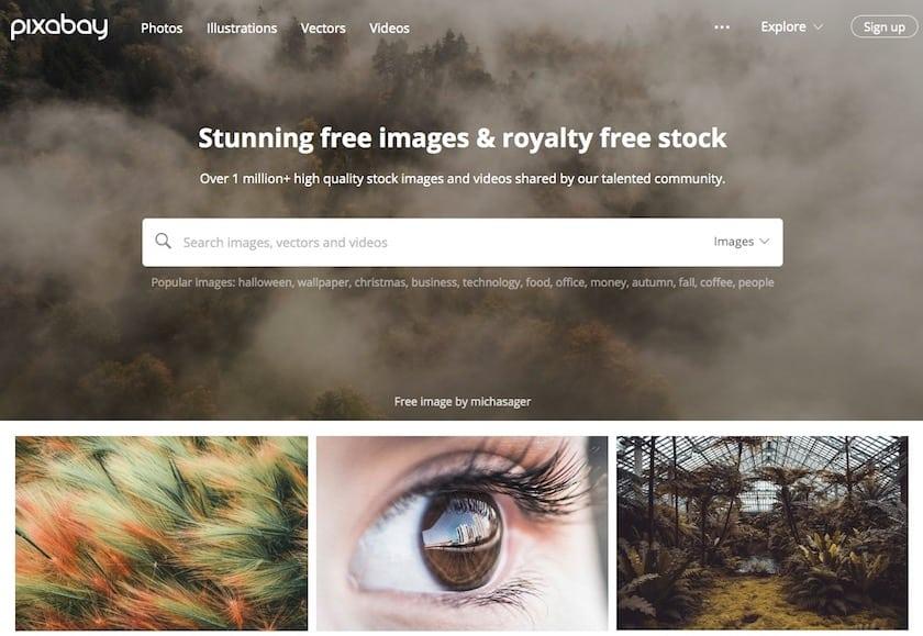 Lizenzfreie Bilder kostenlos - pixabay website