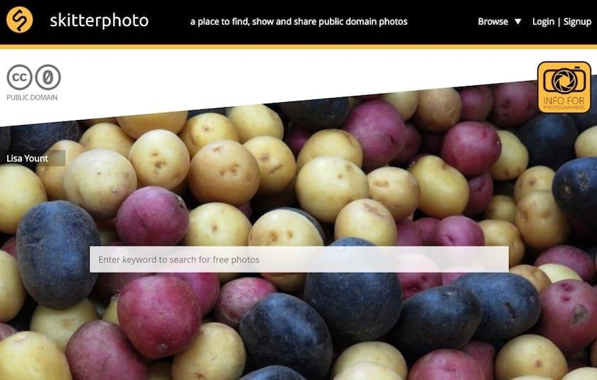 Lizenzfreie Bilder kostenlos - skitterphotos website
