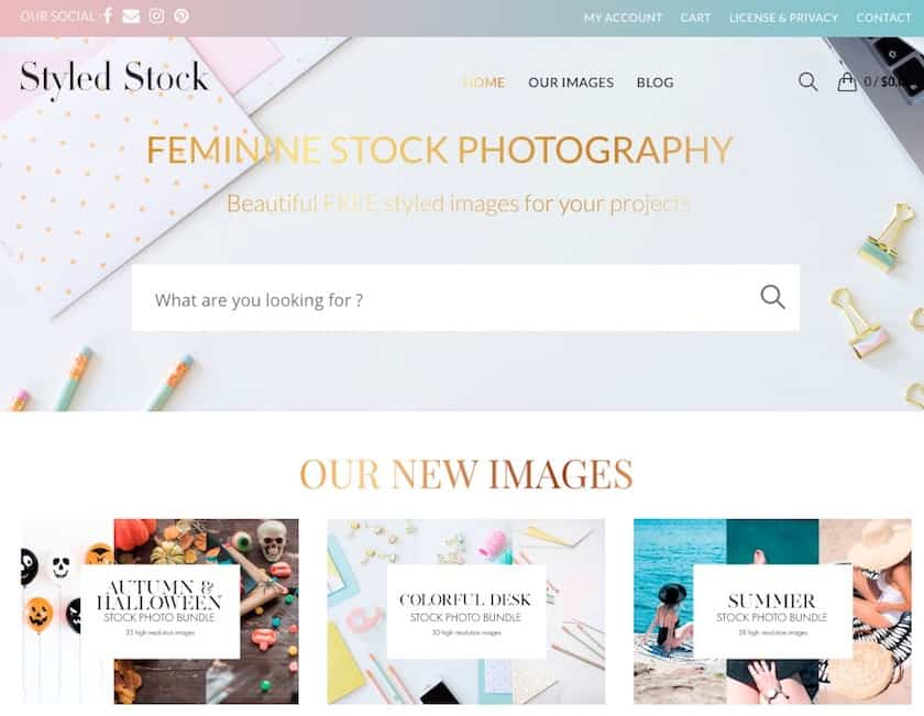 Lizenzfreie Bilder kostenlos - styledstock website