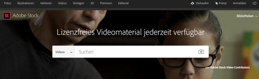 Videoangebot von Adobe Stock