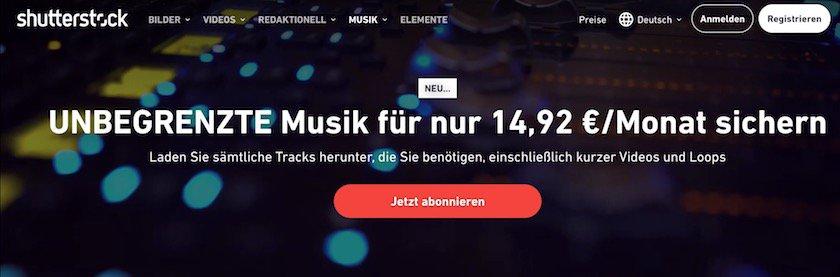 Musiktpaket von Shutterstock