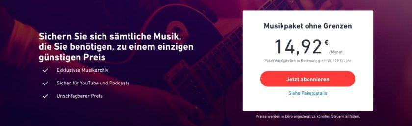 Musikpaket von Shutterstock