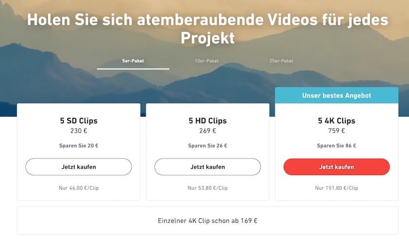 Videopreise Shutterstock